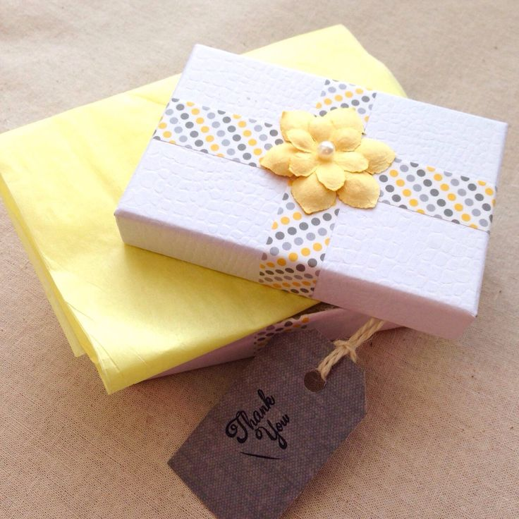 Best 25 white gift boxes ideas on pinterest gift box templates these white gift boxes with yellow flowers are great for gift wrapping earrings comes with negle Images