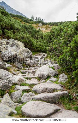 Damian Gretka. Microstock Photography. narrow stone path in mountain / stone path