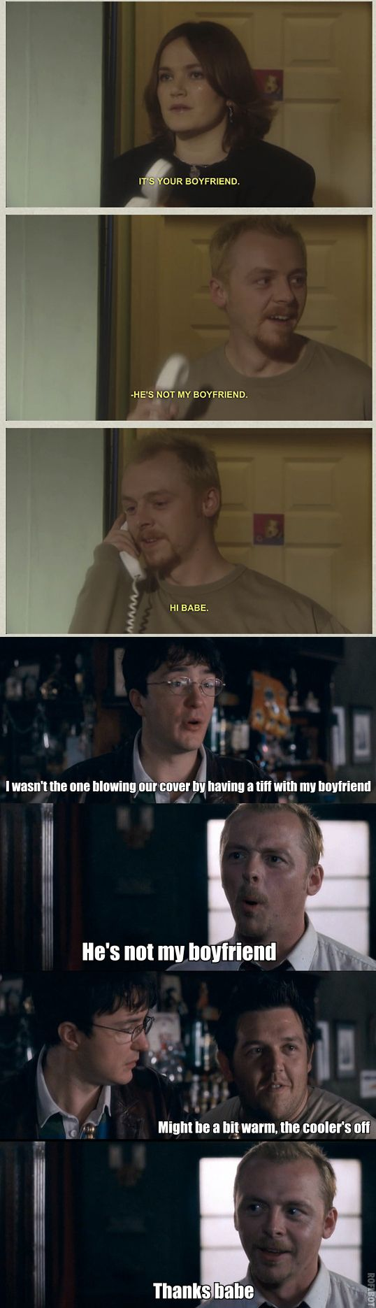 Simon Pegg  Nick Frost in Spaced and Shaun of the Dead - Some things never change.
