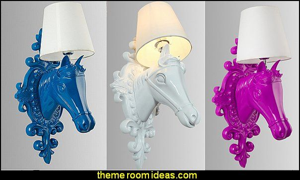 horse wall lamps  horse theme bedroom - horse bedroom decor - horse themed bedroom decorating ideas - Equestrian decor - equestrian themed rooms - cowgirl theme bedroom decorating ideas - Dressage Wall Decals - English riding theme - equestrian bedding - Horse Riding bedding