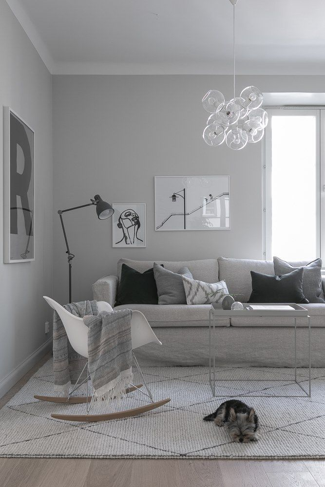 Monochrome Scandinavian living room