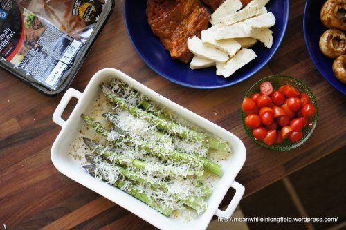 Grillatut sitruuna-parmesaani parsat