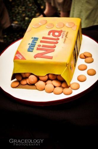 nilla wafers groom's cake