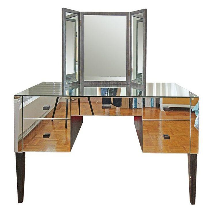 White vanity stool vanity desk hayworth mirrored vanity vanity desk - Vanity Tables Nice Vanity Bedroom Furniture Vanity Tables