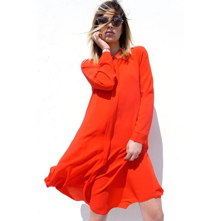 red shirt-dress! fashion trends  2017