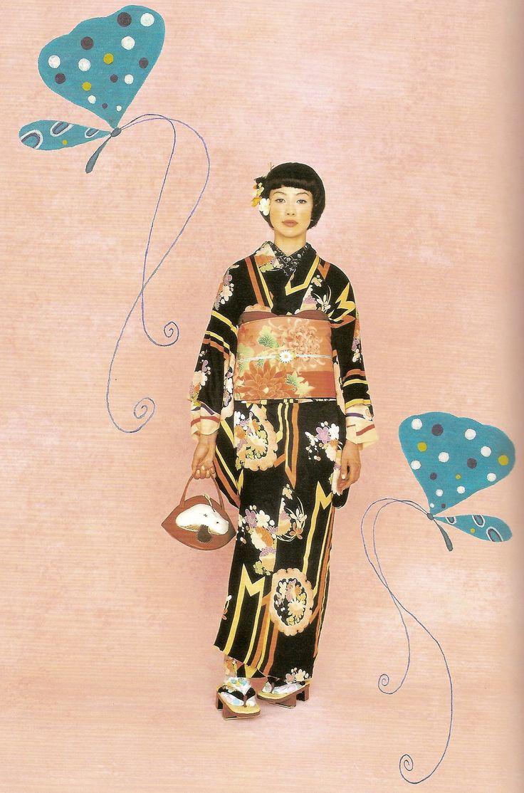 Kimono-hime issue 1. Fashion shoot page 3. Via Satomi Grim of Flickr