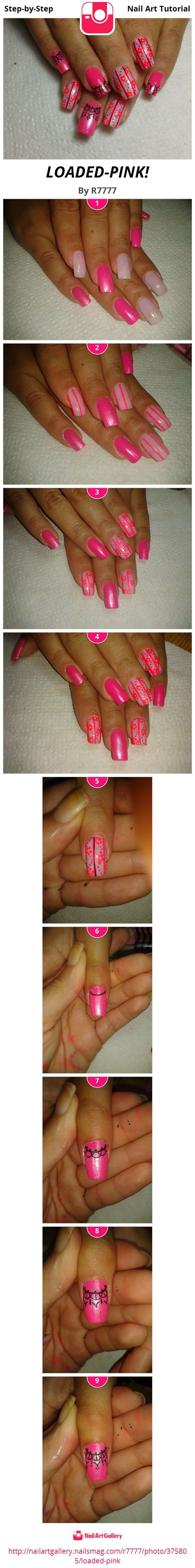 LOADED-PINK! by R7777 from Nail Art Gallery