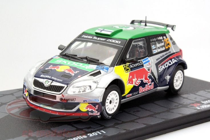 Skoda Fabia S2000, Rally Acropolis 2011, No.25, J.Hanninen / M.Markkula. Altaya, 1/43. Price (2016): 13 EUR.