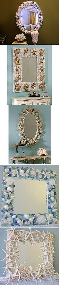 Как украсить зеркало в морском стиле / Я - суперпупер