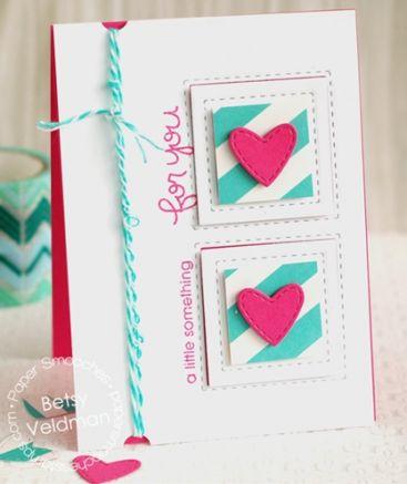 Die Pochoir de Coupe* - Stitched Frames Paper Smooches
