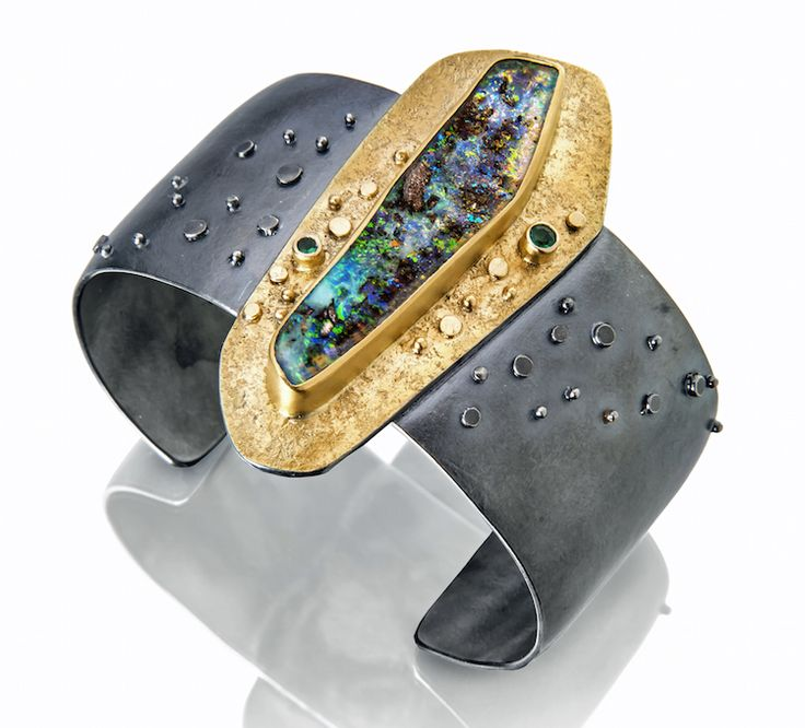 Long opal cuff by Sydney Lynch