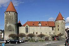 Yverdon-les-Bains Castle is a castle in the municipality of Yverdon-les-Bains of the Canton of Vaud in Switzerland.