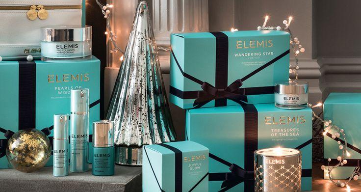 Natale con ELEMIS, idee regalo per lei e per lui. Bellezza per donna e per uomo. La gioia di dare e di ricevere, in eleganti confezioni regalo.