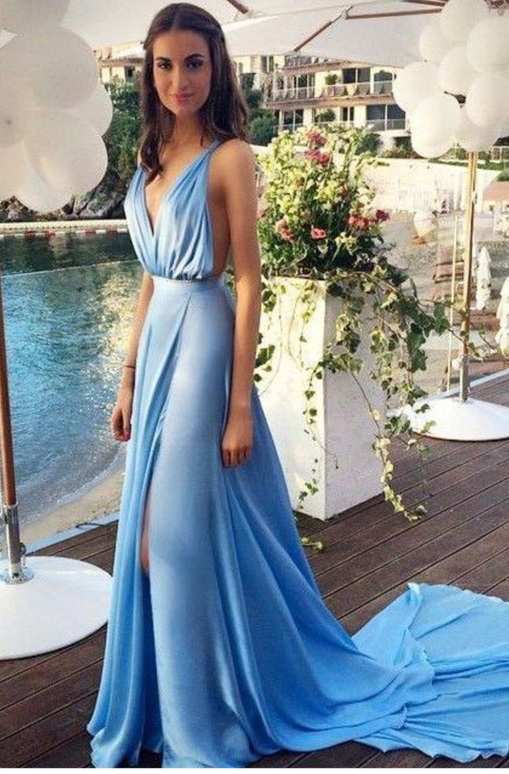 Soft flowy home coming dress