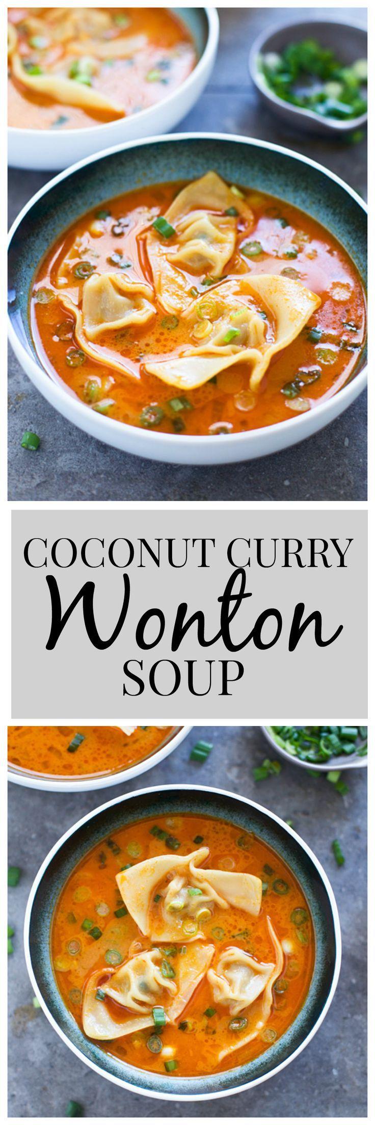 Coconut Curry Wonton Soup