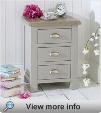 Chester Grey Painted 3 Drawer Bedside