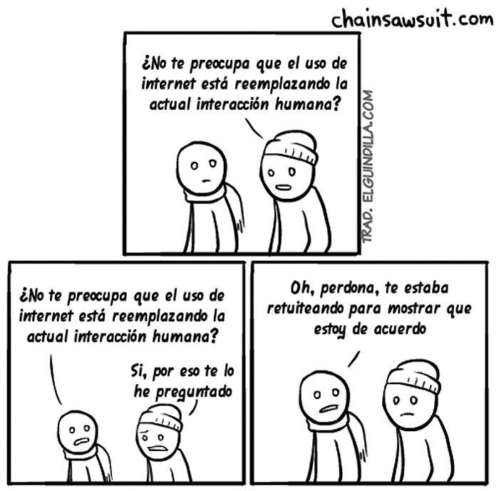 El uso de Internet reemplaza la interacción humana.