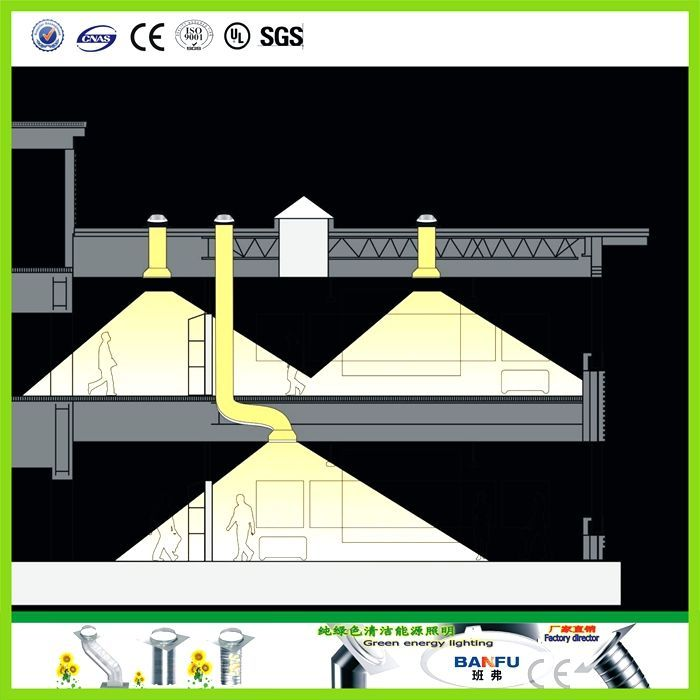 9 best images about before after sun tunnel installation for Sun tunnel blackout shade