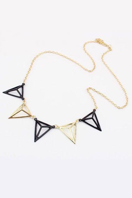 Pyramid Shaped Pendant ..great Christmas gift idea..