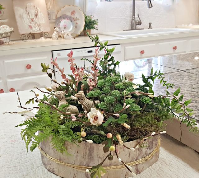 Penny's Vintage Home: Spring Floral Design using Birch Bark