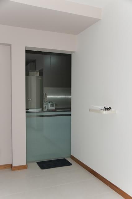 Hdb kitchen door can opt for sliding glass door instead for Kitchen wall cabinets sliding glass doors