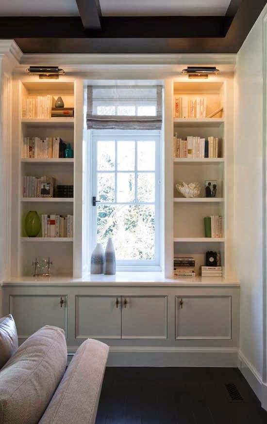 I would love to remove all the window trim in my sunroom and have shelves in between, under, and over the windows instead. Maybe someday.