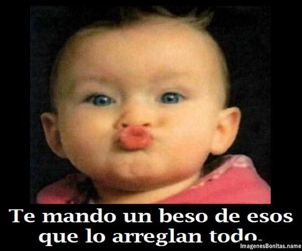 Imagenes de Bebes para Facebook: Te mando besos