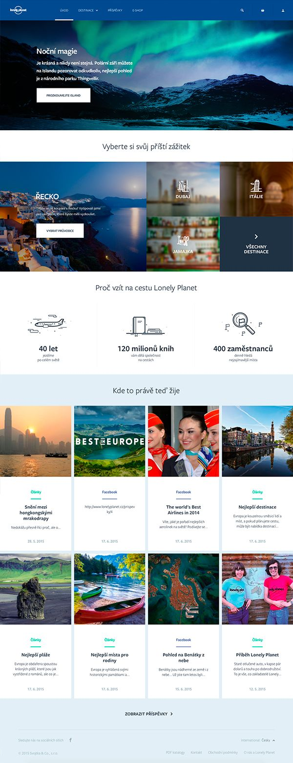 For the biggest travel guide Lonely Planet, we created a new website tailored for Czech travelers. Start packing! ;)