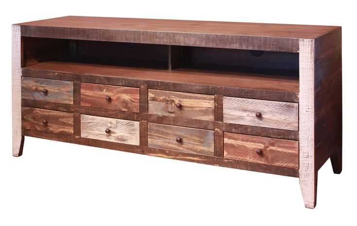 900 Antique 8 Drawer TV Stand by International Furniture Direct