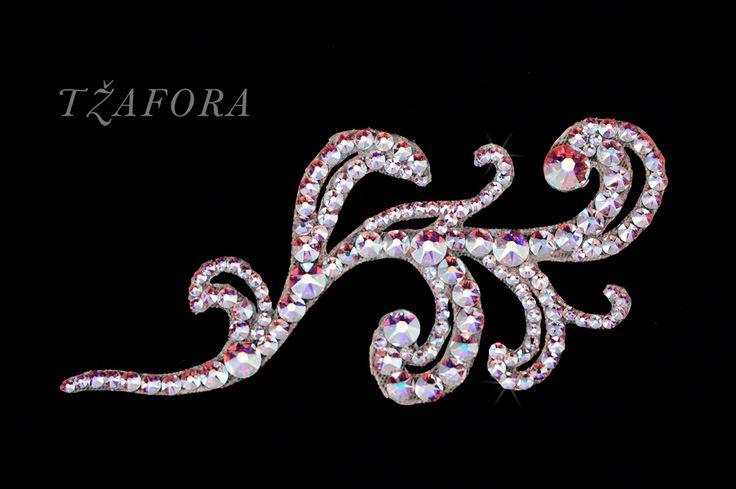 """Zyanya"" - Dancesport accessories. Ballroom hair accessory and ballroom jewelry made with Swarovski, available at www.tzafora.com © 2016 Tzafora. Handmade in Canada."