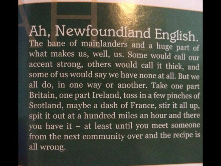 Newfoundland English