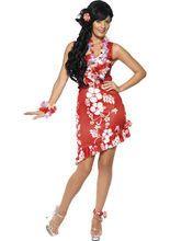 Hawaii Kleid Damenkostüm rot-weiss aus unserer Kategorie Karnevalskostüme Klassiker. Ein paradiesisches Kleid, das sich perfekt für die Hawaii Mottoparty oder für Karneval eignet! Ein Faschingskostüm, mit dem Sie sich im Nu zur Strandschönheit verwandeln.