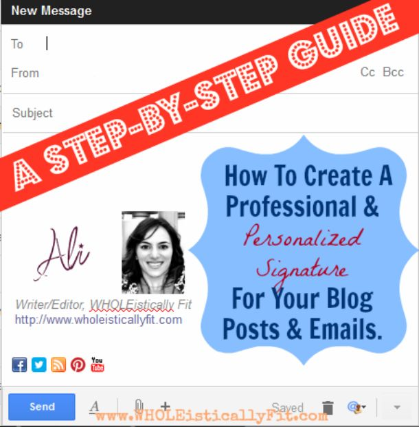 Create a Signature for Your Blog or Email in Less Than 5 Minutes