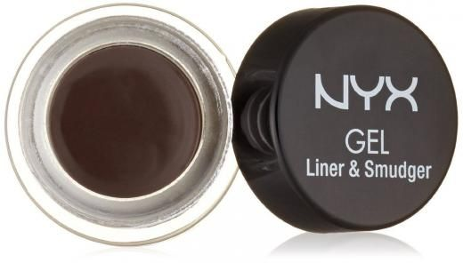 Nyx Cosmetics Gel Eyeliner And Smudger,choose Dark Brown Full Size