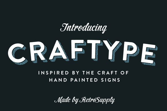 Check out CraftType - 3D Sign Painting Actions by RetroSupply Co. on Creative Market