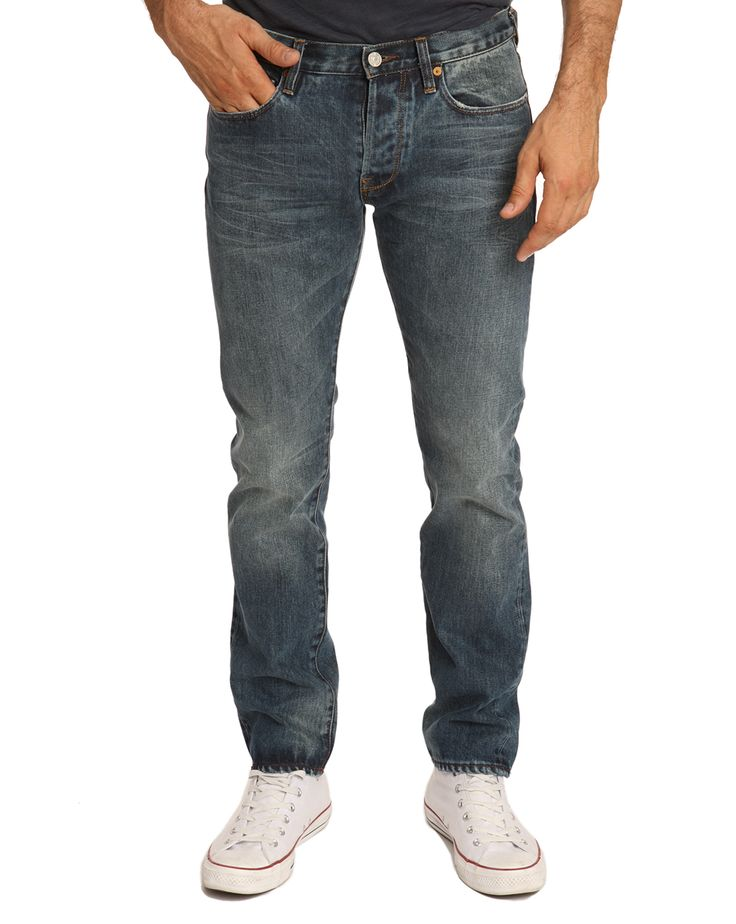 Jean Tapered Selvedge Bleu Délavé