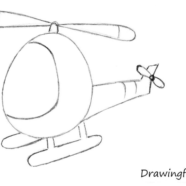 How to Draw a Helicopter for Kids | pam to paint | Drawings, Art for