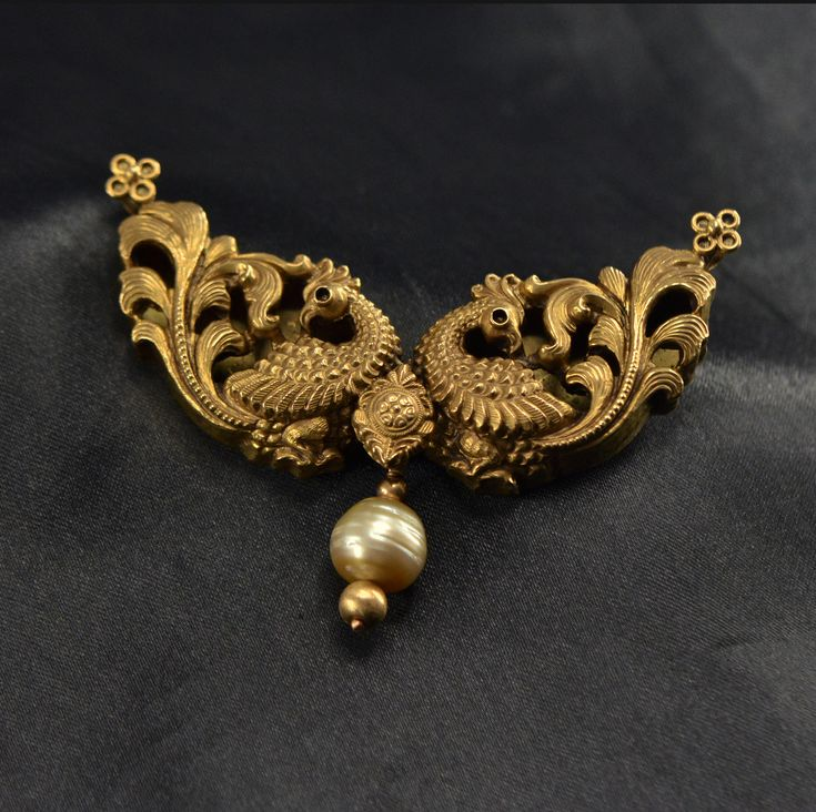 Attractive antique peacock pendant designed in 22k yellow gold combined with natural pearl is stunning beautiful!!!!!!