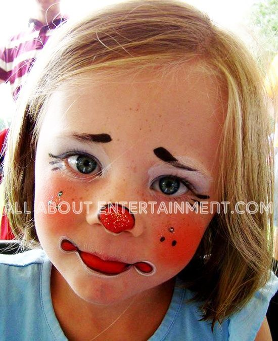 Cute+child's+face+painting   Baby's First Halloween / Cute little clown face painting