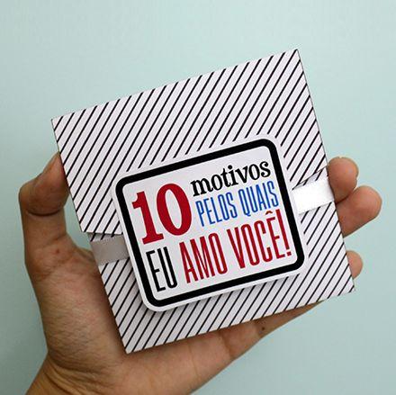 DIY: Cartão 10 Motivos