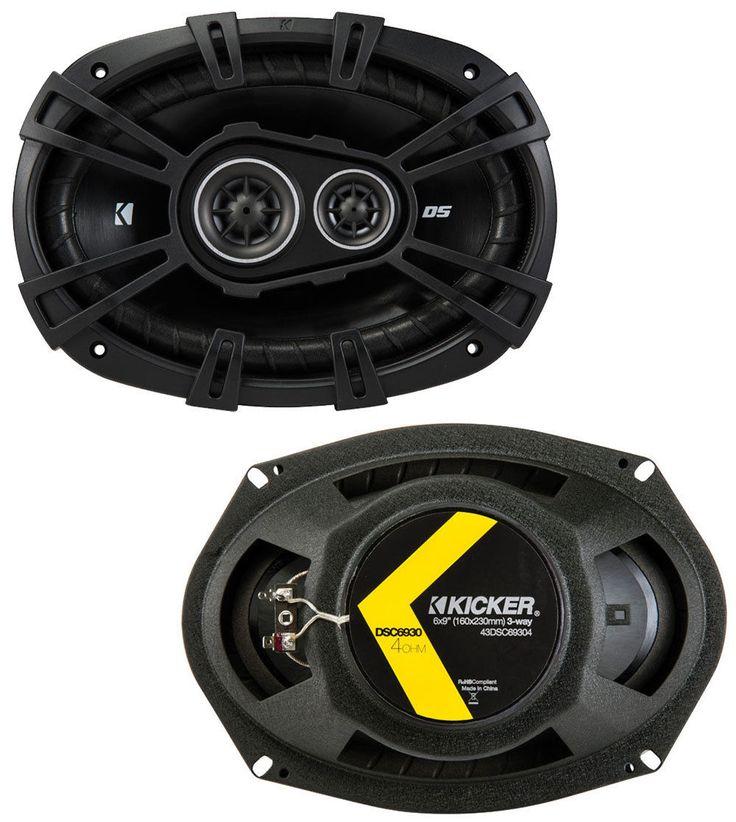 Kicker 43DSC69304 DS Series 6X9 140W 4 Ohm 3-Way Car Audio Speakers DSC693