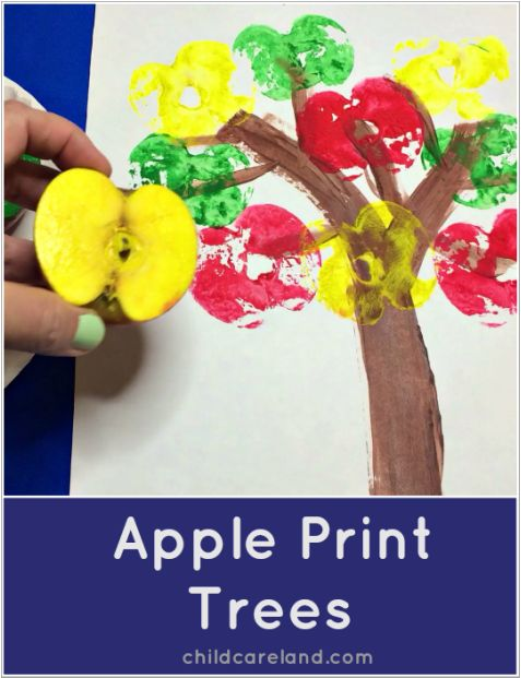 Apple Print Trees ... these turned out so cute!!