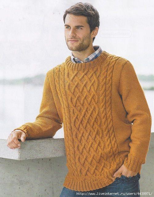 Женский/мужской пуловер с рельефным узором