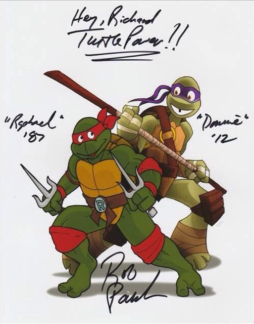Some cool TMNT artwork i got signed by Rob Paulsen at Izumicon 2017.