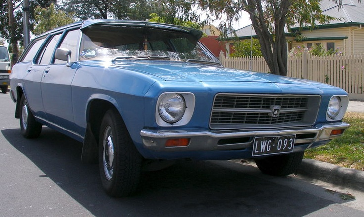 Dad had one of these beasts in off-white - the 1972 HQ Holden Kingswood station wagon... classic! (without the silly visor of course.)