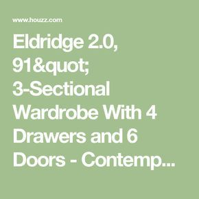 Unique Eldridge Sectional Wardrobe With Drawers and Doors