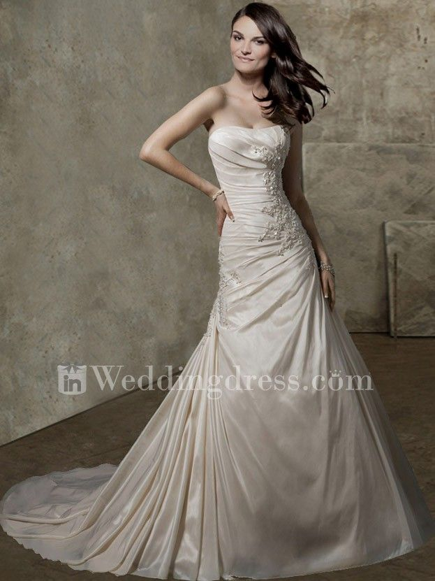 Beach Wedding Dresses,wedding dress,elegant wedding dress,strapless wedding dress,destination wedding dress