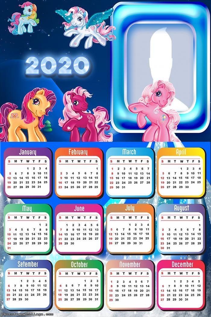Ponies Calendar 2020 Kids Disney Calendar Calendar 2020 Calendar