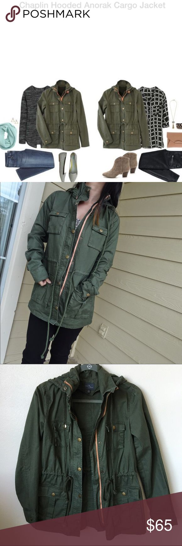 EUC Market and Spruce Anorak Cargo jacket Washed and worn 1x, in excellent condition. Market and spruce Chaplin hooded anorak cargo jacket from a Stitch Fix box! This jacket is a must have in everyone's closet but I already have a few..  Stitch Fix Jackets & Coats