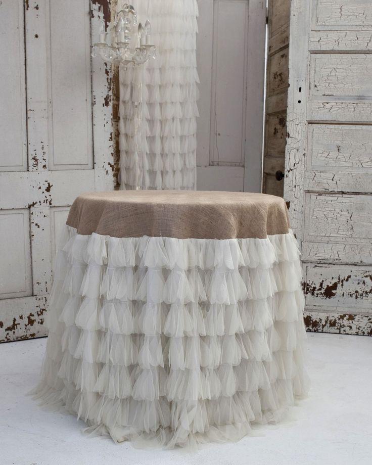 Chichi Ivory/Jute Tablecloth